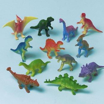 Lot de 12 Dinosaures