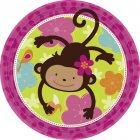 8 Assiettes Monkey Love