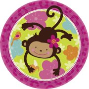 8 Assiettes Monkey Love