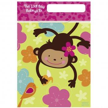 8 Pochettes cadeaux Monkey Love