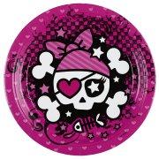 8 Assiettes Pink Pirate