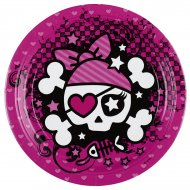 8 Assiettes Pink Pirate