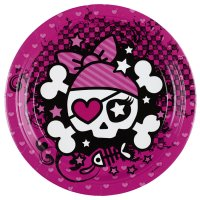 Contient : 1 x 8 Assiettes Pink Pirate