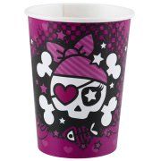 8 Gobelets Pink Pirate