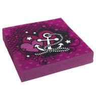 20 Serviettes Pink Pirate