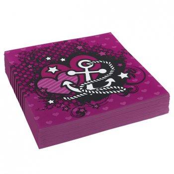 20 Serviettes Pink Pirate