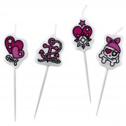 4 Bougies Pink Pirate