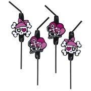 8 Pailles Pink Pirate