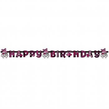 Guirlande lettres  Happy Birthday Pink Pirate