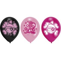 Contient : 1 x 6 Ballons Pink Pirate