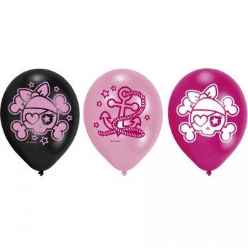 6 Ballons Pink Pirate