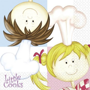 16 Serviettes Little Cooks