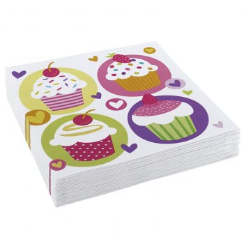 20 Serviettes Sweet Cupcakes
