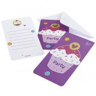 6 Invitations Sweet Cupcakes