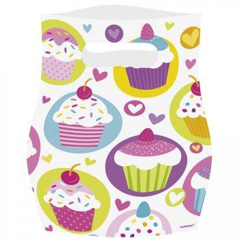 6 Pochettes cadeaux Sweet Cupcakes