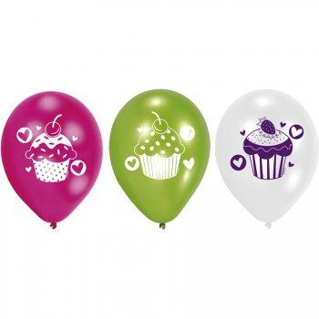 6 Ballons Sweet Cupcakes