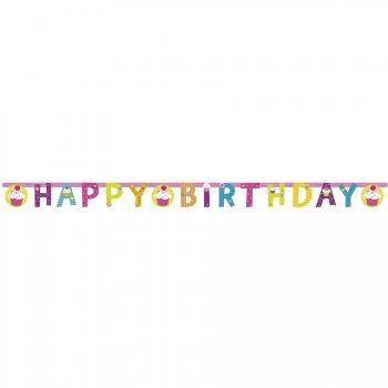 Guirlande lettres  Happy Birthday Sweet Cupcakes