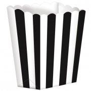 5 Pots ray�s Blanc/Noir
