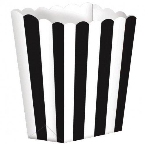 5 Pots rayés Blanc/Noir