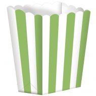 5 Pots rayés Blanc/Vert