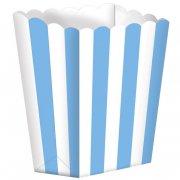 5 Pots ray�s Blanc/Bleu Cara�be