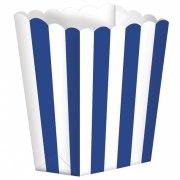 5 Pots ray�s Blanc/Bleu fonc�