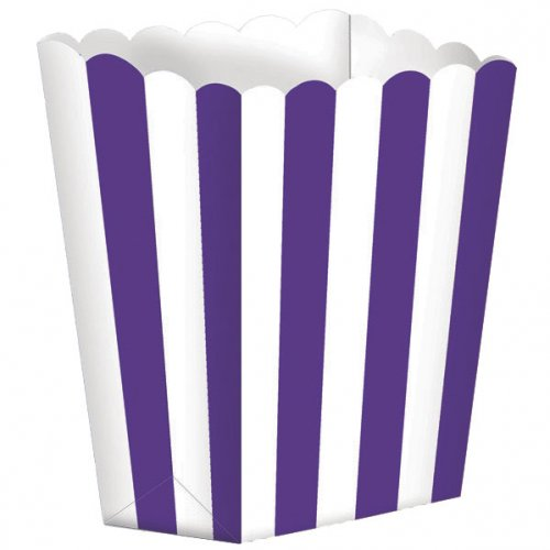 5 Pots rayés Blanc/Violet