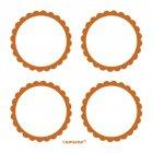 5 Planches d'étiquettes Orange