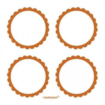 5 Planches d étiquettes Orange