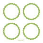 5 Planches d'�tiquettes Vert