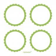 5 Planches d'étiquettes Vert