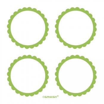 5 Planches d étiquettes Vert