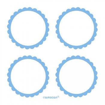 5 Planches d étiquettes Bleu