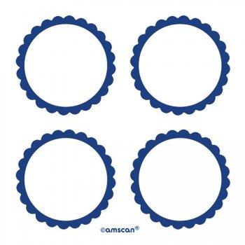 5 Planches d étiquettes Bleu foncé