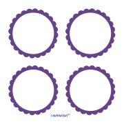 5 Planches d'étiquettes Violet