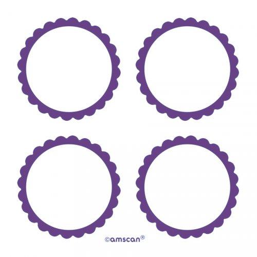 5 Planches d étiquettes Violet
