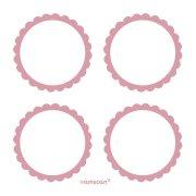 5 Planches d'étiquettes Rose pastel