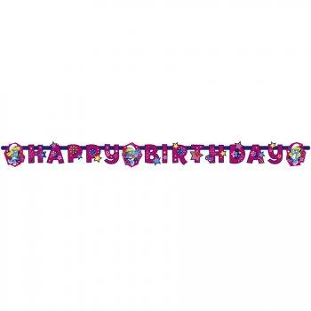 Guirlande lettres  Happy Birthday Schtroumpfette