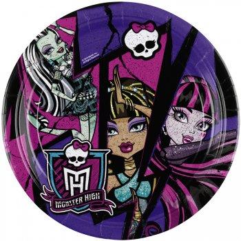 8 Assiettes New Monster High