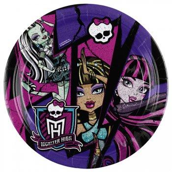 8 Petites assiettes New Monster High