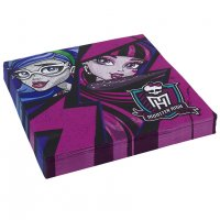 Contient : 1 x 20 Serviettes New Monster High