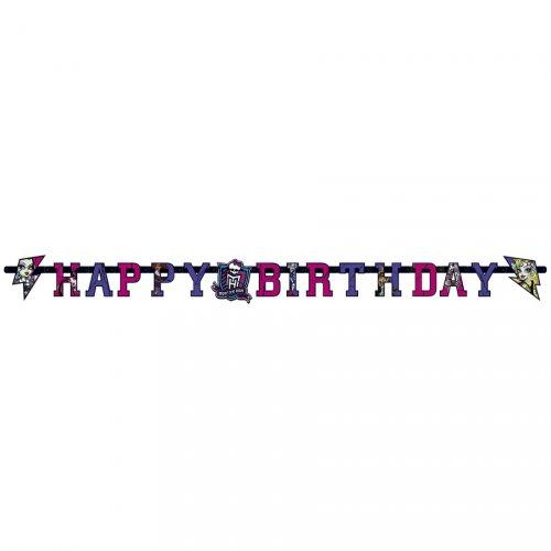 Guirlande lettres  Happy Birthday New Monster High