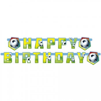 Guirlande lettres Happy Birthday Foot Rio