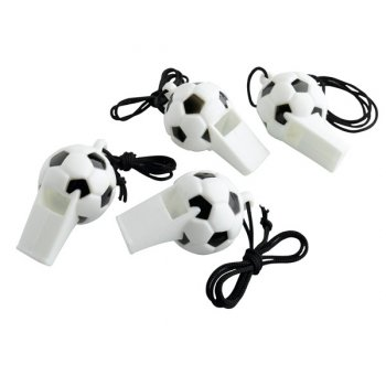 4 Faux Sifflets Ballons de Foot