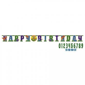 Guirlande Lettres Personnalisable Happy Birthday Dino Party!