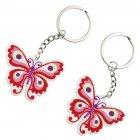 2 Porte-clés Papillons