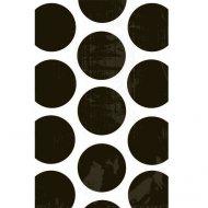 10 Sacs papier Pois Noir