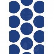 10 Sacs papier Pois Bleu fonc�