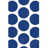 10 Sacs papier Pois Bleu foncé