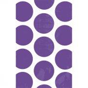 Sacs papier Pois Violet